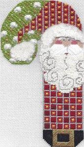 Ornament of the Month - February 2014 Cute Candy cane Santa Ornament by Danji.