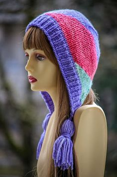 Lodge Bunny Bonnet: made with roughly 130 yards of bulky weight yarn and sizes US 9 & 11 needles