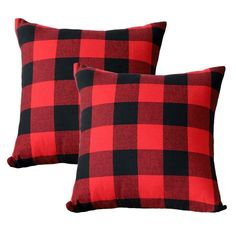 Made of Cotton Canvas Pack of Measures 18 inches square, 45 x 45 cm This cushion cover has an invisible zipper Pattern available in both sides Insert are not included Size: x Color: Multicolor. Plaid Throw Pillows, Throw Cushions, Throw Pillow Cases, Pillow Covers, Sew Pillows, Plaid Christmas, Christmas Ideas, Christmas Crafts, Christmas Tree