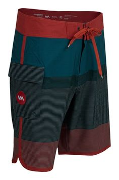 RVCA // Commander Trunk - Bayberry Gym Style, Surf Style, African Men Fashion, Mens Fashion, Billabong, Bermudas Shorts, Surf Shorts, Surf Wear, Mens Boardshorts