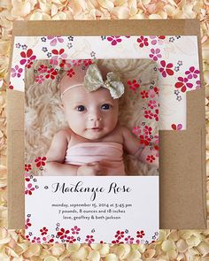 Introduce the little one to the world with personalized birth announcements from Tiny Prints.