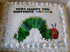 Grocery Store Cake into a Hungry Caterpillar Cake