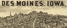 From the Illustrated Historical Atlas of the State of Iowa (1875). Amazing to see how the city's evolved over more than a century.