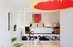 Quarto paira sobre loft em Paris: uma solução criativa para a falta de espaço