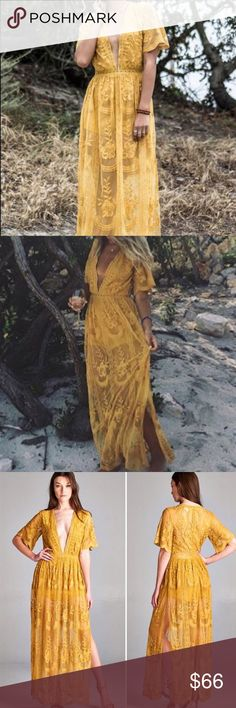 Honey punch Maxi dress with built in romper  Bohemian dress . Perfect for any occasion- very elegant and beautiful.  Now available ❤️this dress is carried by high brand stores like Nordstrom and ASOS. Honey Punch Dresses Maxi