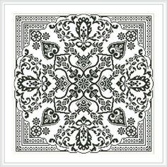 Blackwork, Embroidery Patterns, Cross Stitch Patterns, Monochrome, Cross Stitch Numbers, Mandala, Fillet Crochet, Stitch Design, Different Patterns