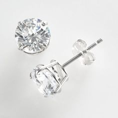 Renaissance Collection 10k White Gold 1 1/2-ct. T.W. Cubic Zirconia Stud Earrings - Made with Swarovski Zirconia $54.44 kohls