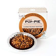"The Lazy Dog Cookie Company Carob Peanut Butter Pup Pie 6"""" Dipped in carob coating Sprinkled with peanut butter drops Natural Human-Grade Wheat-corn free Ingredients: Oat Flour, Cane Molasses, Canola"