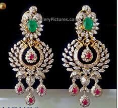 Prettiest diamond earrings I have ever seen Diamond Earrings Indian, Diamond Jhumkas, Gold Jhumka Earrings, Jewelry Design Earrings, Diamond Earing, Gold Earrings Designs, Diamond Jewellery, Jewellery Designs, Diamond Pendant