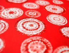 Handmade origami paper  Red batique
