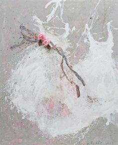 tutu 24 - Sold - Tutus - Laurence Amelie Abstract Painters, Abstract Art, Laurence Amelie, Shabby Chic Couture, Shabby Chic Painting, Dress Painting, Prophetic Art, Pretty And Cute, French Artists
