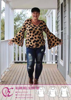 Ladies Bell Sleeve PDF Sewing Pattern – Pattern Emporium