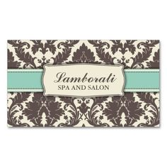 Floral Pattern Damask Elegant Modern Classy Retro Business Card Template. This great business card design is available for customization. All text style, colors, sizes can be modified to fit your needs. Just click the image to learn more!