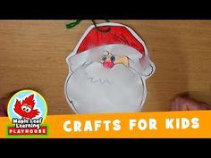 Santa's Beard Christmas Craft for Kids | Maple Leaf Learning Playhouse - YouTube