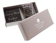 Father of the Groom Whiskey Glass and Coaster Gift Set By...