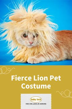Lions, tigers, and bears oh my! Even though this costume only features a ferocious feline, we can be sure they will have a frightful time this Halloween. // Project instructions are available through the link.