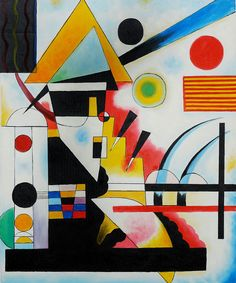 """Balancement (Swinging)"" by Wassily Kandinsky created in 1925"