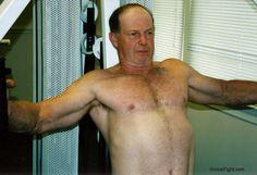 dad nautilus workout gym weights training