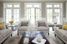 """Benjamin Moore color """"shale""""...more of a cooler gray and looks elegant with white trim. by rebecca2"""