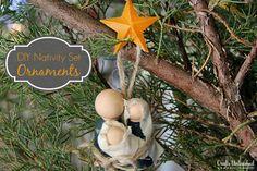 DIY Primitive Nativity Set Ornaments - CraftsUnleashed.com