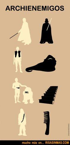 Archienemigos de Star Wars.