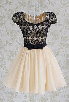 Vintage Lace Splicing Dress