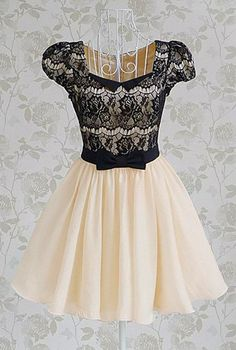 Vintage Lace Splicing Dress