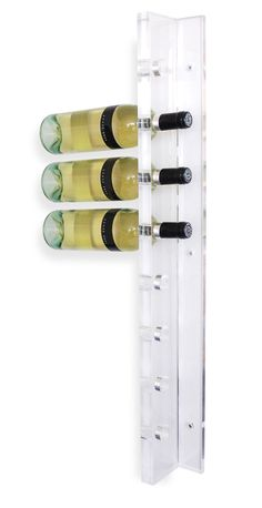 Hip Furniture - ACRYLIC WINE HOLDER - By far the coolest wine rack we have ever seen! This modern wine rack is constructed of translucent acrylic and holds 8 bottles of wine. ($155)