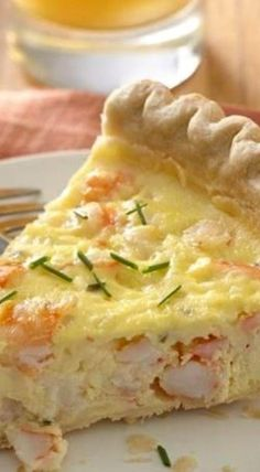 Shrimp Pie This tasty shrimp and cheese pie makes a perfect light supper, or cut it into smaller wedges for a hearty appetizer.This tasty shrimp and cheese pie makes a perfect light supper, or cut it into smaller wedges for a hearty appetizer. Quiche Recipes, Pie Recipes, Brunch Recipes, Seafood Recipes, Cooking Recipes, Recipies, Seafood Appetizers, Shellfish Recipes, Meatloaf Recipes