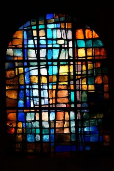 Eglise St. Pierre-le-Vieux, Strasbourg | by imanh Stained Glass Church, Modern Stained Glass, Stained Glass Paint, Stained Glass Panels, Leaded Glass, Mosaic Glass, Glass Art, Wine Glass, Strasbourg