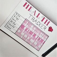 Healthy Living Tracker | Bullet Journal layouts to track healthy living and weight loss. #weightlossquest