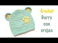 Crochet For Boys, Crochet Baby Hats, Crochet Clothes, Easy Crochet, Knitted Hats, Knitting Patterns, Crochet Patterns, Crochet Crop Top, Crochet Videos