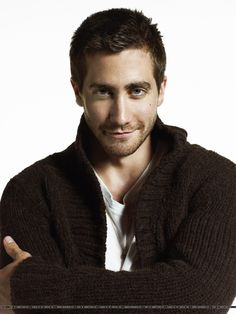 "Jake Gyllenhaal; like the texture of the sweater and the ""come hither"" eyes"