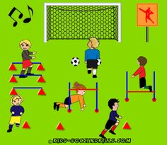 Creativ Lesson - Dance Diplom - Kids Soccer - Soccer drills for kids from to - Soccer coaching with fantasy Soccer Drills For Kids, Soccer Practice, Soccer Skills, Kids Soccer, Soccer Games, Soccer Ball, Toddler Soccer, Kids Football, Football Drills