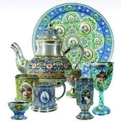 Посуда-luxury from the  town  Rostov Great.russian enamel-finifty(финифть)