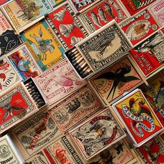 Collection of vintage match boxes