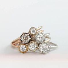 satomi kawakita hexagon engagement rings-now at gem!