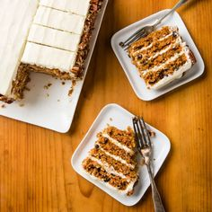 Carrot Layer Cake | America's Test Kitchen Caramel Chocolate Bar, Chocolate Desserts, Cupcakes, Cupcake Cakes, Pear And Almond Cake, Donut Toppings, Muffins, California Pizza Kitchen, Layer Cake Recipes