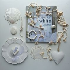 white coastal decor at home with white shell garland beachcomber etsy shop