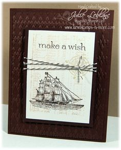 """""""Kewl""""stamps-n-more: A Card AND a Video! Stampin up Masculine Birthday Cards, Birthday Cards For Men, Handmade Birthday Cards, Masculine Cards, Greeting Cards Handmade, Male Birthday, Stampin Up Cards, Men's Cards, Boy Cards"""