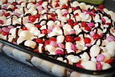 Valentine's day s'mores bars