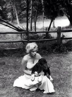 Marilyn and her basset hound Hugo
