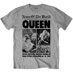 Queen Mens Tee: News of the World 40th Front Page Wholesale Ref:QUTS25MG