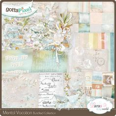 Mental Vacation Bundled Collection with Free Solid Papers :: Gotta Pixel Digital Scrapbook Store by Lara's Digi World