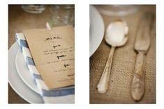 Brown paper bag menu