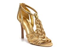 Tory Burch Constance Highheeled Sandals in Gold | Lyst