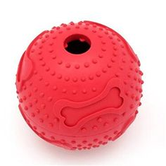 LPET Normal Size Resistant to bite Rubber Chew Toys Nontoxic and Odorless food Ball Tooth Cleaning for Small Pet Dog Cat Puppy >>> Check out the image by visiting the link.