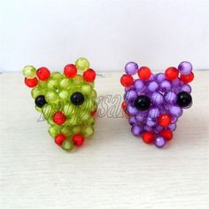 2PCS Cute beadwork animal Mini Cat Home/Desk/Showcase/Children's room Decor