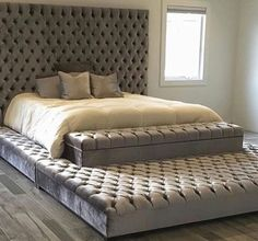 Eternity bed #goals #eternitybed #homedecor #home #furniture #tufted #bed #tuftedheadboard