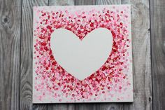 Tape Painting, Easy Canvas Painting, Heart Painting, Stencil Painting, Painting For Kids, Canvas Paintings, Kids Canvas Art, Diy Canvas, Art Kids